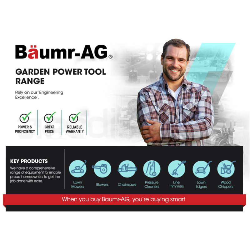 BAUMR-AG Petrol Hand-Held 3-in-1 Leaf Blower Vacuum Mulcher by Baumr-AG
