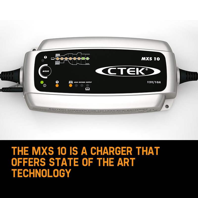 CTEK MXS 10 Amp Smart Battery Charger 12V Car Caravan RV Boat Marine AGM by CTEK