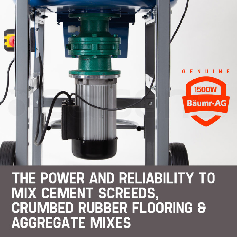 Baumr-AG 100L Concrete Mixer Mortar Electric Cement 1500W Screed Pan Heavy Duty by Baumr-AG