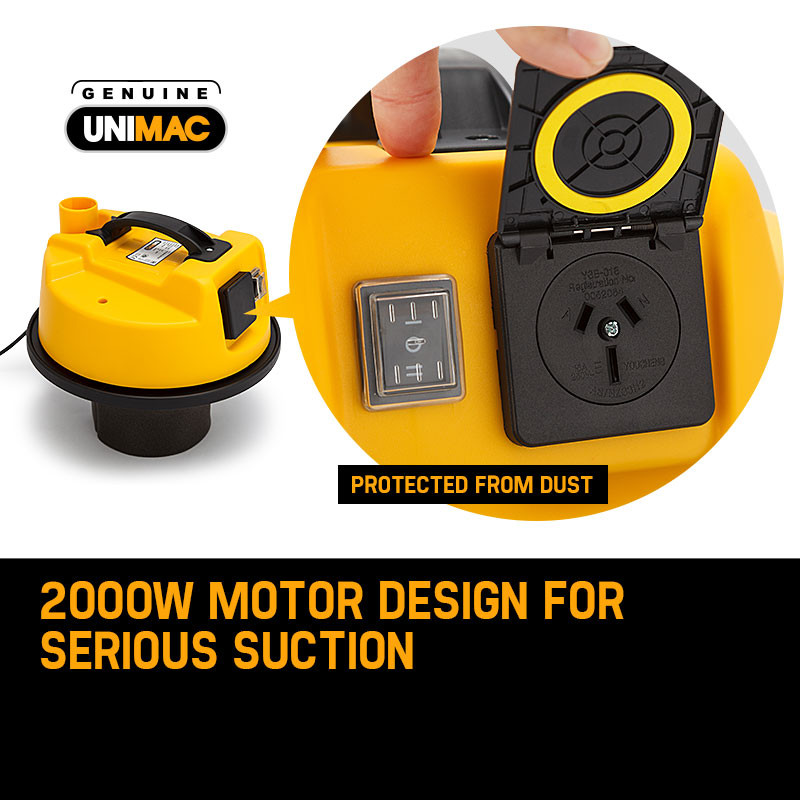 UNIMAC 30L Wet and Dry Vacuum Cleaner Blower Bagless 2000W Drywall Vac by Unimac