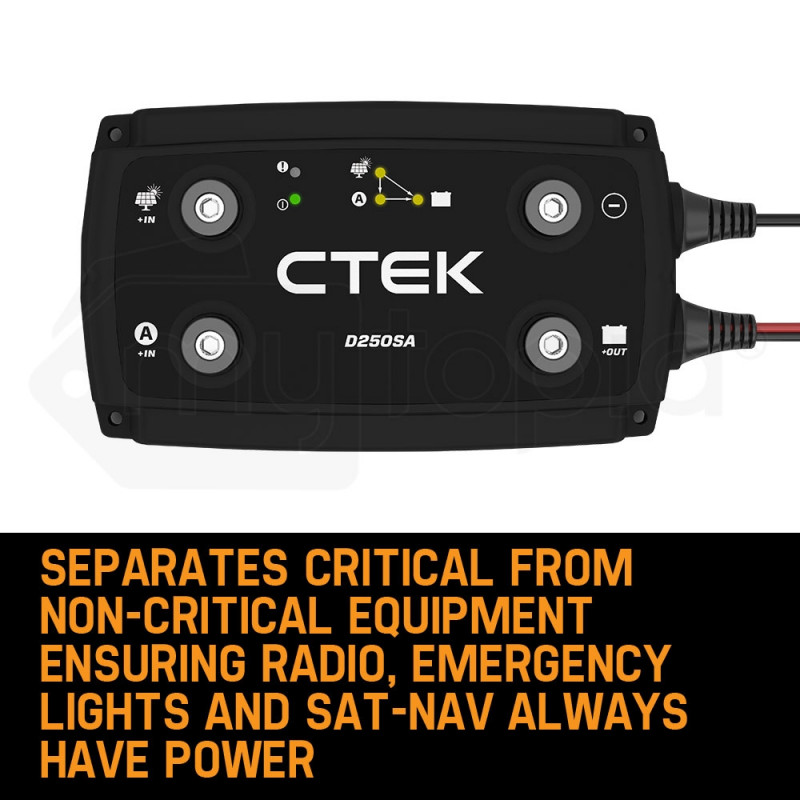 CTEK 20A OFF GRID Battery Charging System with D250SA and Digital Display Monitor for Wind and Solar by CTEK