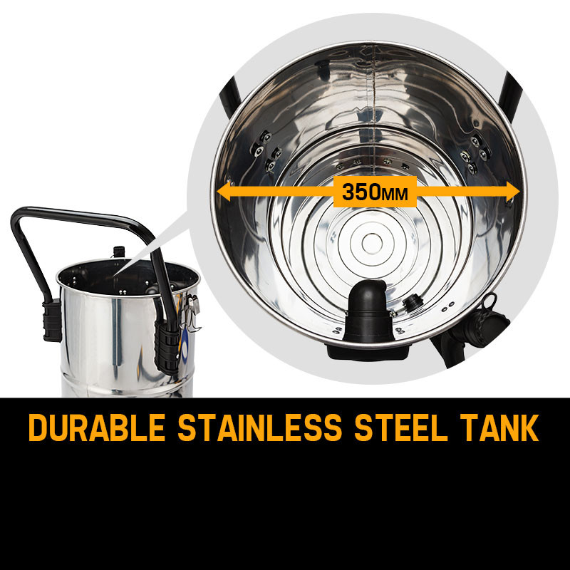 Unimac 60L 200W Stainless Steel Wet and Dry Vacuum by Unimac