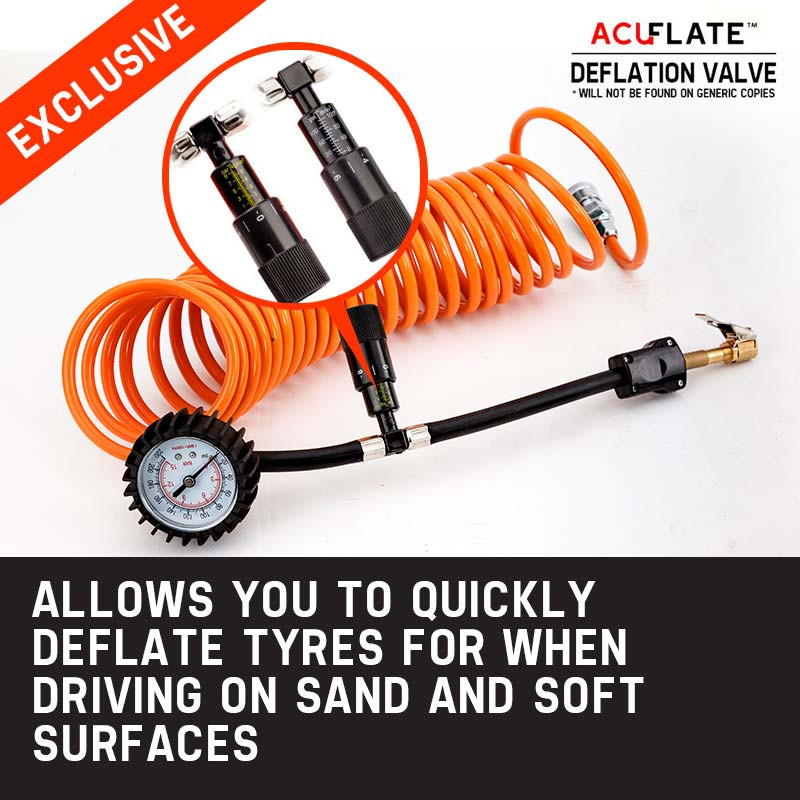 OUTBAC Portable Air Compressor 150PSI 12V 200L Tyre Deflator - OTB600 by Outbac