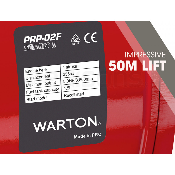 "WARTON 2"" 8HP Petrol High Flow Water Transfer Pump Irrigation Volume Inch by Warton"