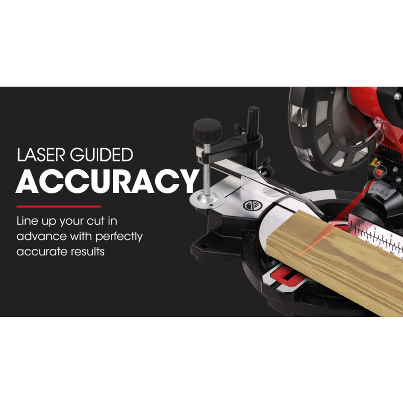 BAUMR-AG 210mm Mitre Compound Saw with Laser Guide Plus Stand Combo by Baumr-AG