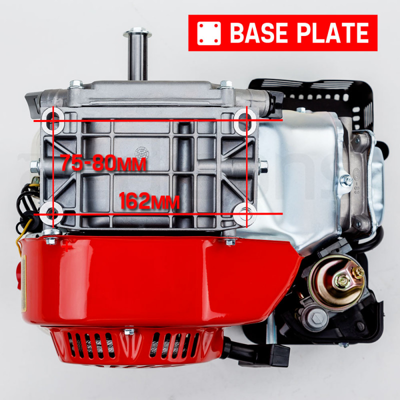 6.5HP Petrol Stationary Engine Motor 4-Stroke OHV Horizontal Shaft Recoil Start by Baumr-AG