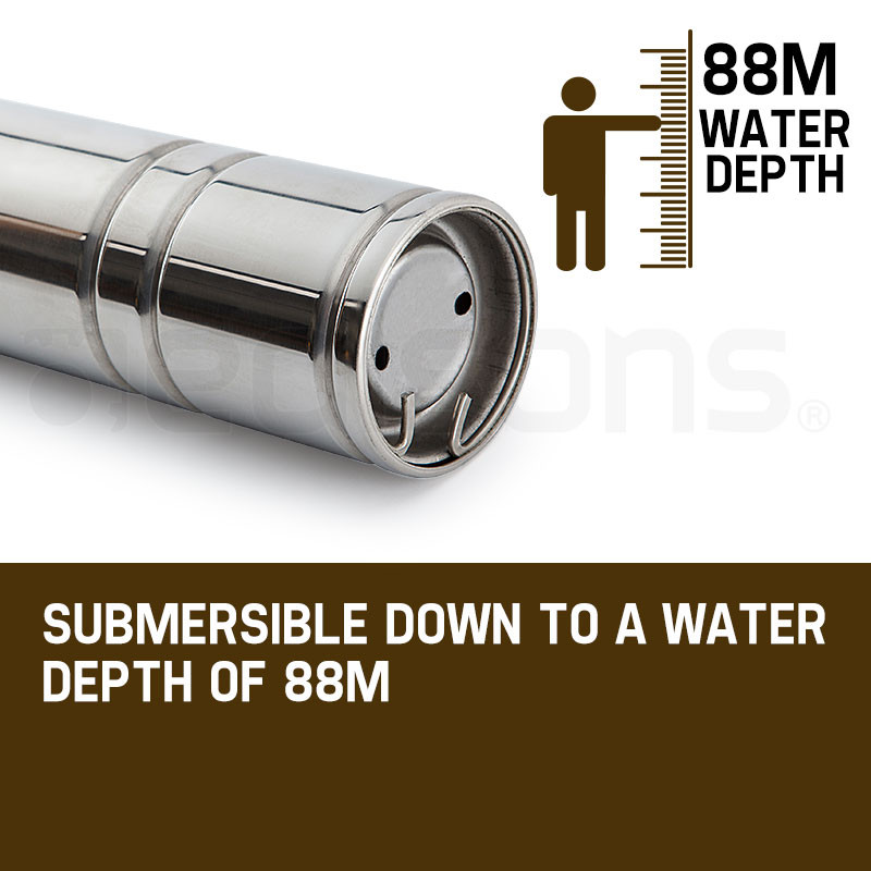1HP Submersible Bore Water Pump Deep Well Irrigation Stainless Steel 240V by Protege