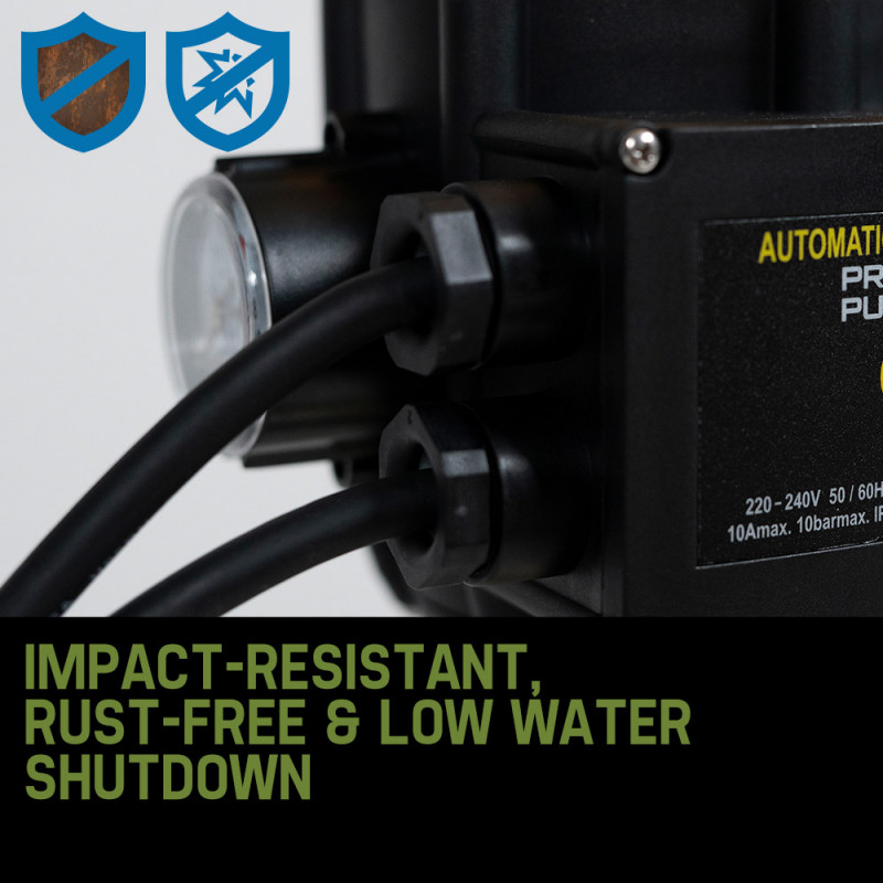 PROTEGE Multi Stage High Pressure Auto Water Pump Electric Digital Controller by Protege