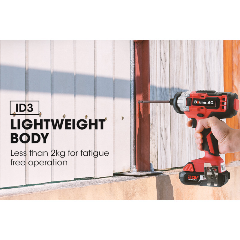 BAUMR-AG 20V Cordless Drill and Impact Driver Kit with SYNC Battery and Charger by Baumr-AG