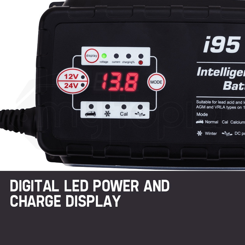 Xcell 9 Stage Automatic Smart Battery Charger- i95 by X-Cell