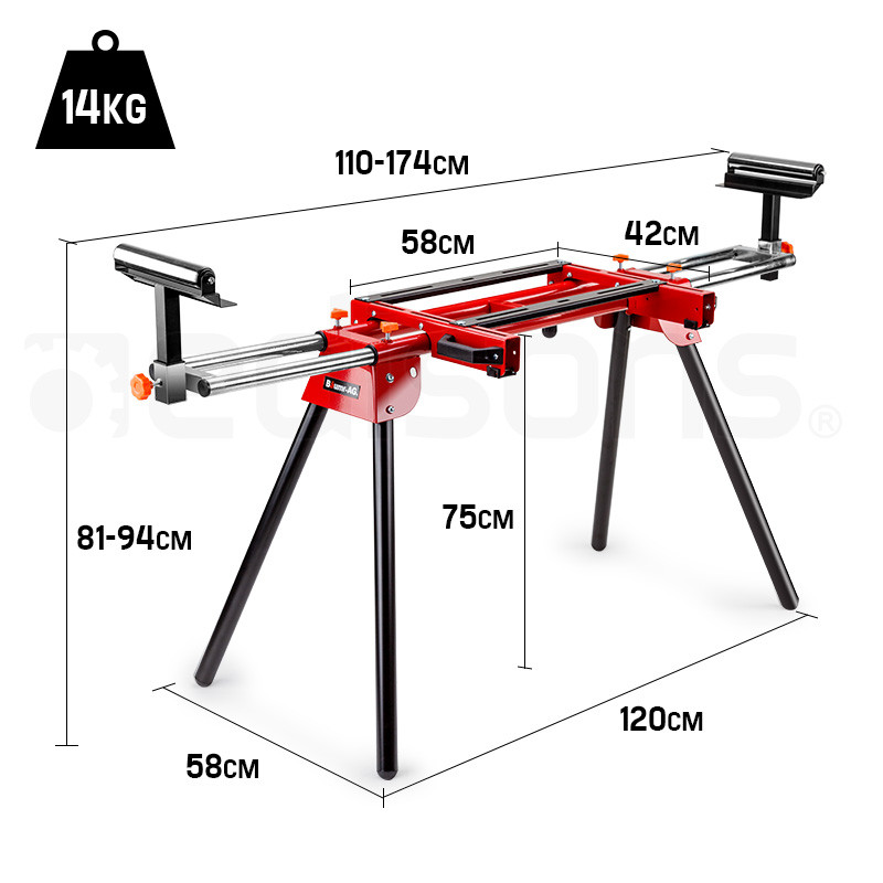 Baumr-AG Mitre Saw Stand Universal Adjustable Portable Drop Saw Bench Table by Baumr-AG