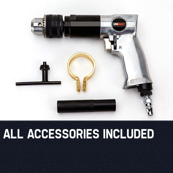 "UNIMAC Air Drill 3/8"" Reversible Air Compressor Power Pistol Hand Tool by Unimac"