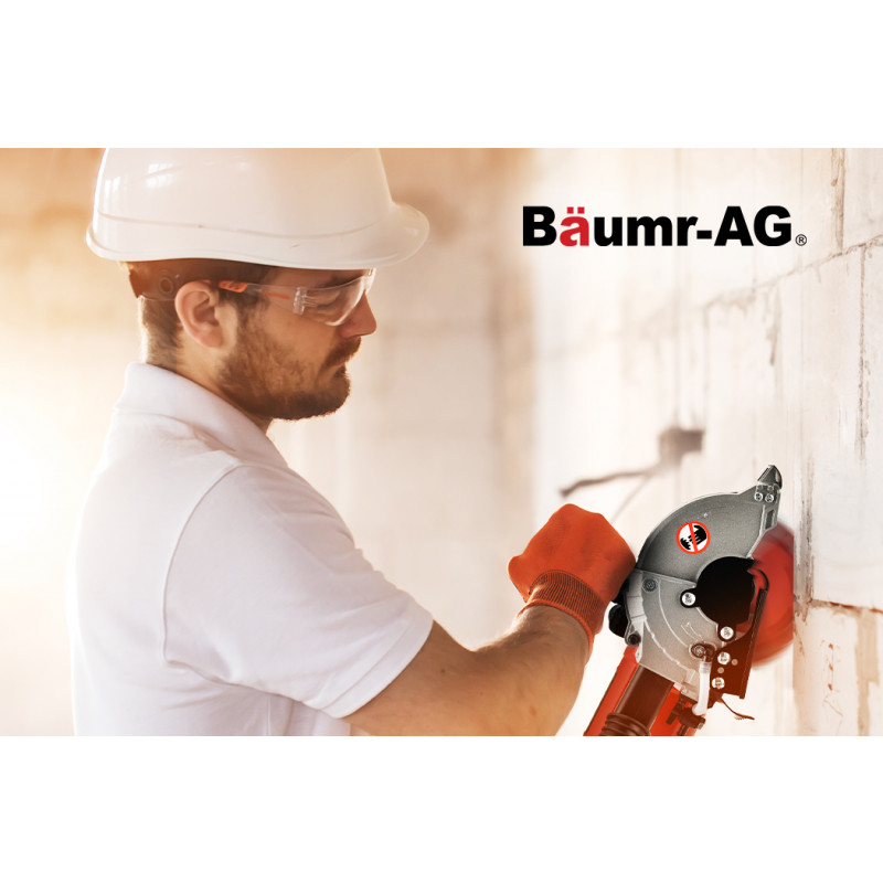 BAUMR-AG 125mm Wall Chaser, Wet Cutting System, 4 Diamond Blades by Baumr-AG