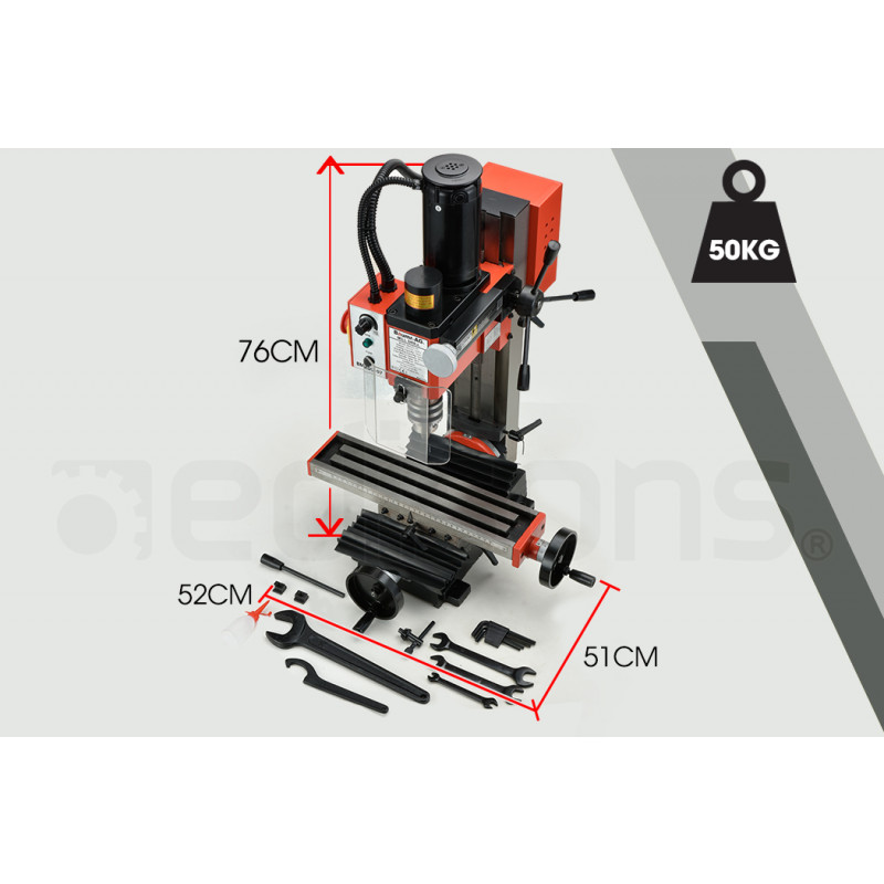 BAUMR-AG 350W Variable Speed Vertical Tilting Head Benchtop Mini Mill Drill Press by Baumr-AG
