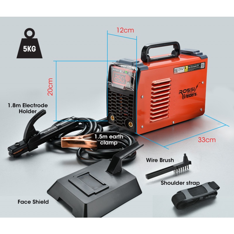 250 Amp Portable Inverter Arc Stick Welder by Rossi