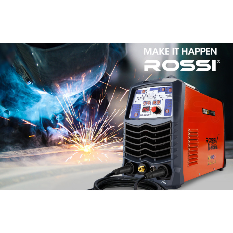 ROSSI 250 Amp AC/DC GTAW Stick Gas Tungsten Arc Portable Inverter TIG Welder, with Accessories by Rossi