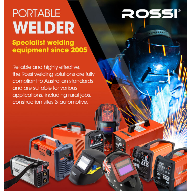 ROSSI 220 Amp GTAW Stick Gas Tungsten Arc Portable Inverter TIG Welder, with Accessories by Rossi