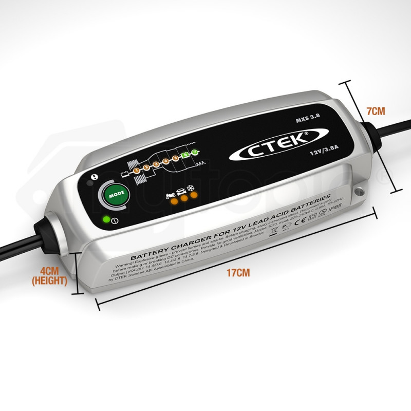 CTEK MXS 3.8 12V 3.8 Amp Smart Battery Charger Car Motorcycle Caravan Camper AGM by CTEK