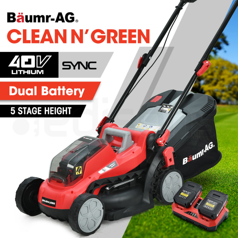 BAUMR-AG 40V Cordless Lawn Mower Kit, with Charger and Batteries by Baumr-AG