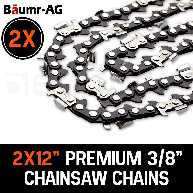 """Baumr-AG 2 x 12"""" Chainsaw Chain 12in Bar Spare Part Replacement Suits Pole Saws by Baumr-AG"""