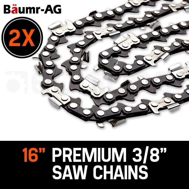 "2 X 16"" Baumr-AG Chainsaw Chain 16in Bar Replacement Suits SX38 38CC Saws by Baumr-AG"