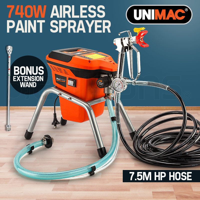 UNIMAC Airless Paint Sprayer - 740W Electric Spray Station DIY Gun Pressure by Unimac