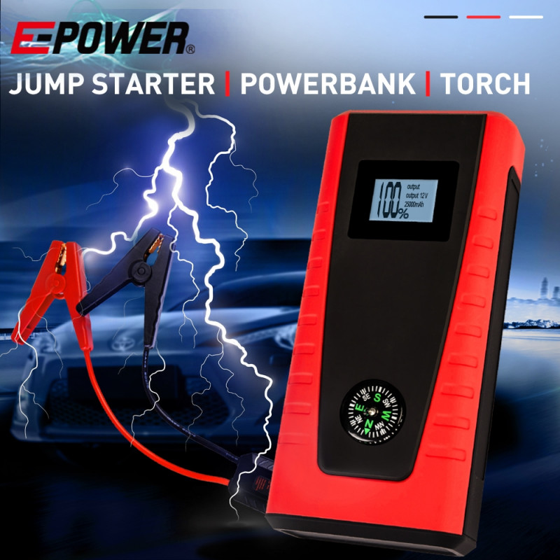 E-POWER Portable Car Vehicle Jump Starter Battery Torch Emergency Lithium 12V by E-Power