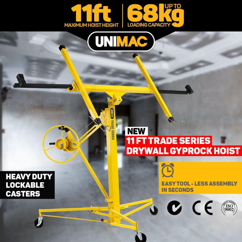 UNIMAC 11ft Sheet Panel Lifter Drywall Panel Gyprock Plasterboard Hoist Lift by Unimac