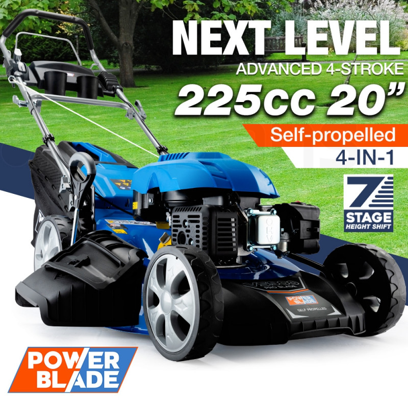 "POWERBLADE Petrol Lawn Mower 225cc 20"" 4 Stroke Self Propelled - VS900 by PowerBlade"