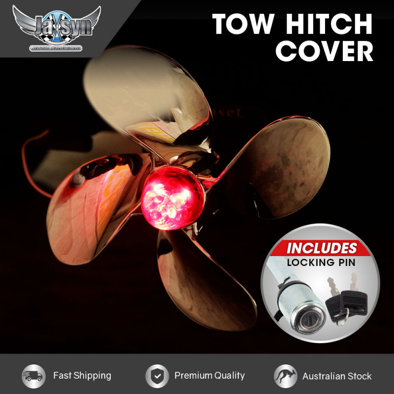 JAXSYN Novelty Tow-bar / Trailer Hitch Cover - Propeller - with Hitch Pin by Jaxsyn
