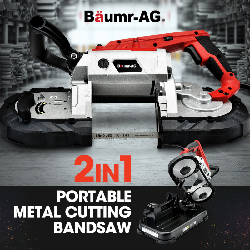 BAUMR-AG Portable Band Saw with Metal Cut Off Bench Stand by Baumr-AG