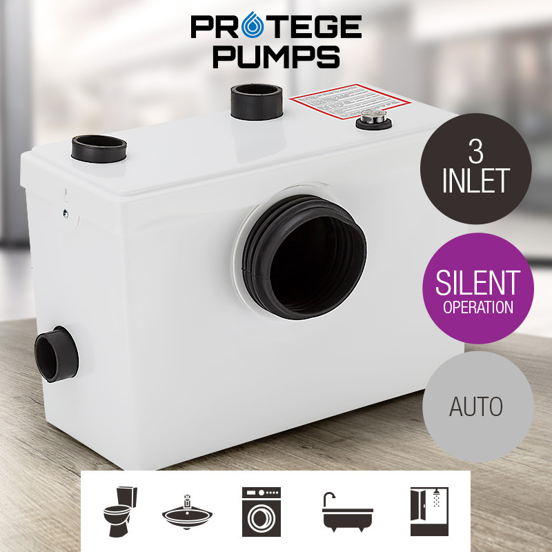 PROTEGE Macerator Sewerage Pump Waste Water Marine Toilet Disposal Unit Laundry by Protege
