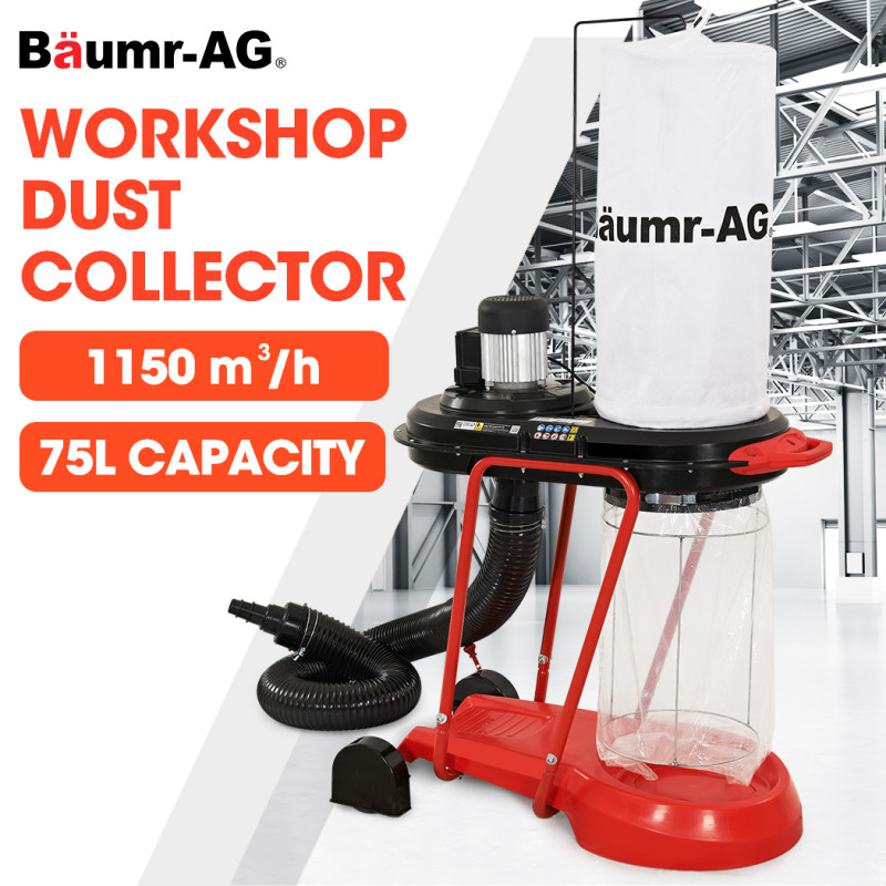 Baumr-AG Mobile Dust Collector Cyclone Extraction System, for Home Woodworking Workshop by Baumr-AG