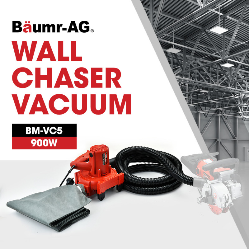 BAUMR-AG 900W Wall Chaser Vacuum Dust Collector for any models with 32mm connection by Baumr-AG