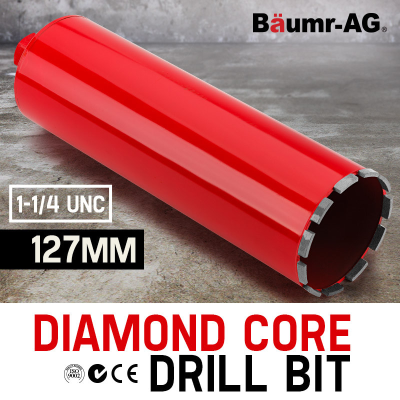 Diamond Core Drill Bit 127mm Concrete Wet Dry Tile Stone Brick Marble 1-1/4 UNC by Baumr-AG