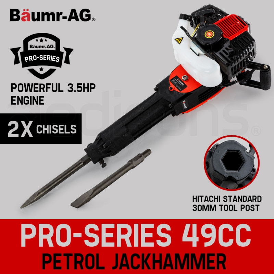 Baumr-AG JackHammer Demolition 3.5HP Petrol Jack Hammer Concrete Rock Drill  by Baumr-AG
