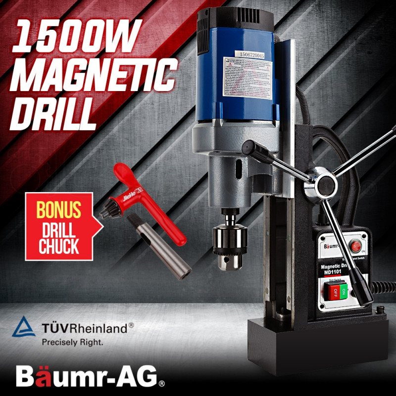 Baumr-AG 240v Commercial Magnetic Drill Electric Electro-Mag Base Chuck Power  by Baumr-AG