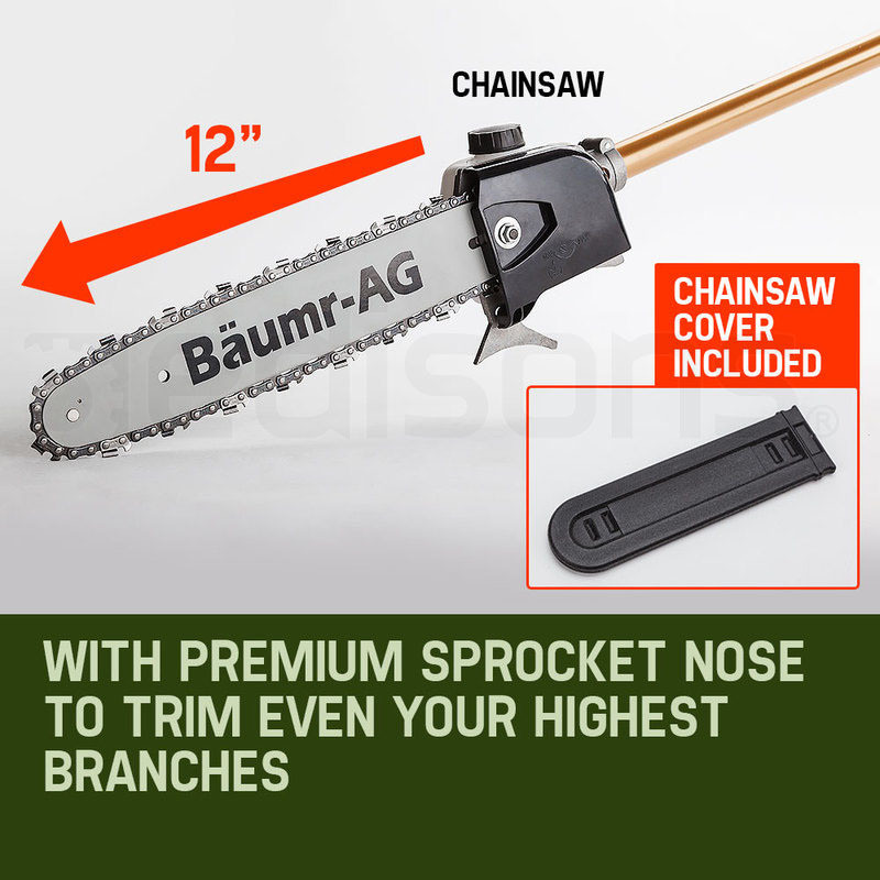 Baumr-AG Pole Chainsaw Brush Cutter Whipper Snipper Hedge Trimmer Multi Tool by Baumr-AG