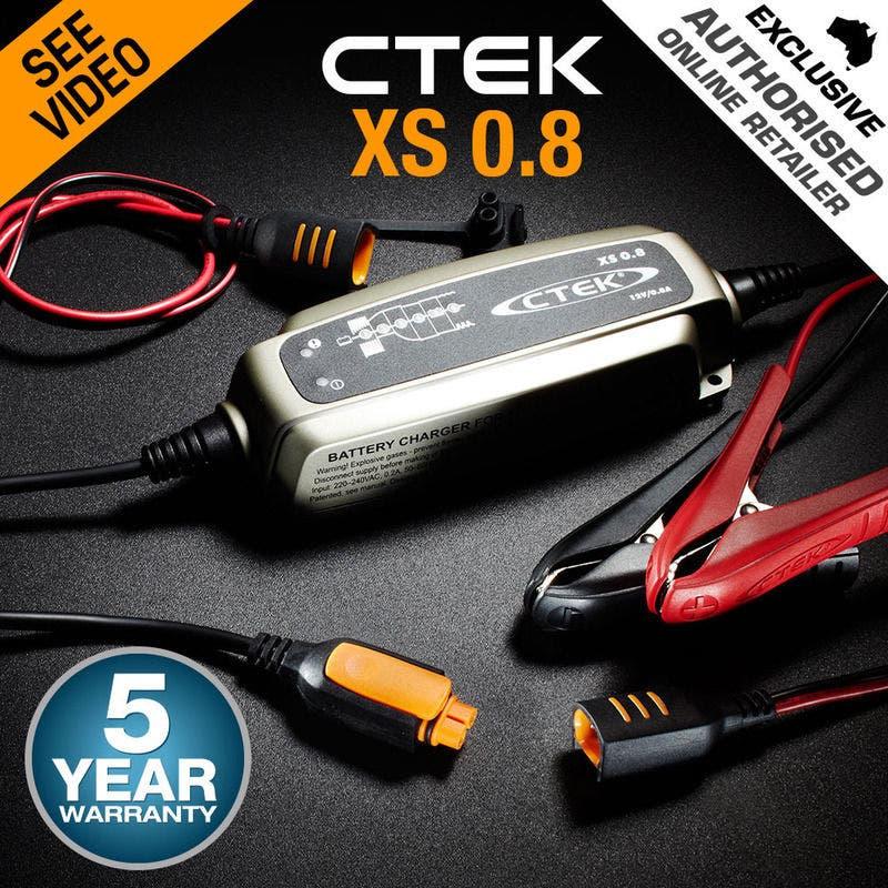 CTEK XS0.8 Model 6 Stage Trickle Smart Battery Charger 12V Bike Car Boat ATV