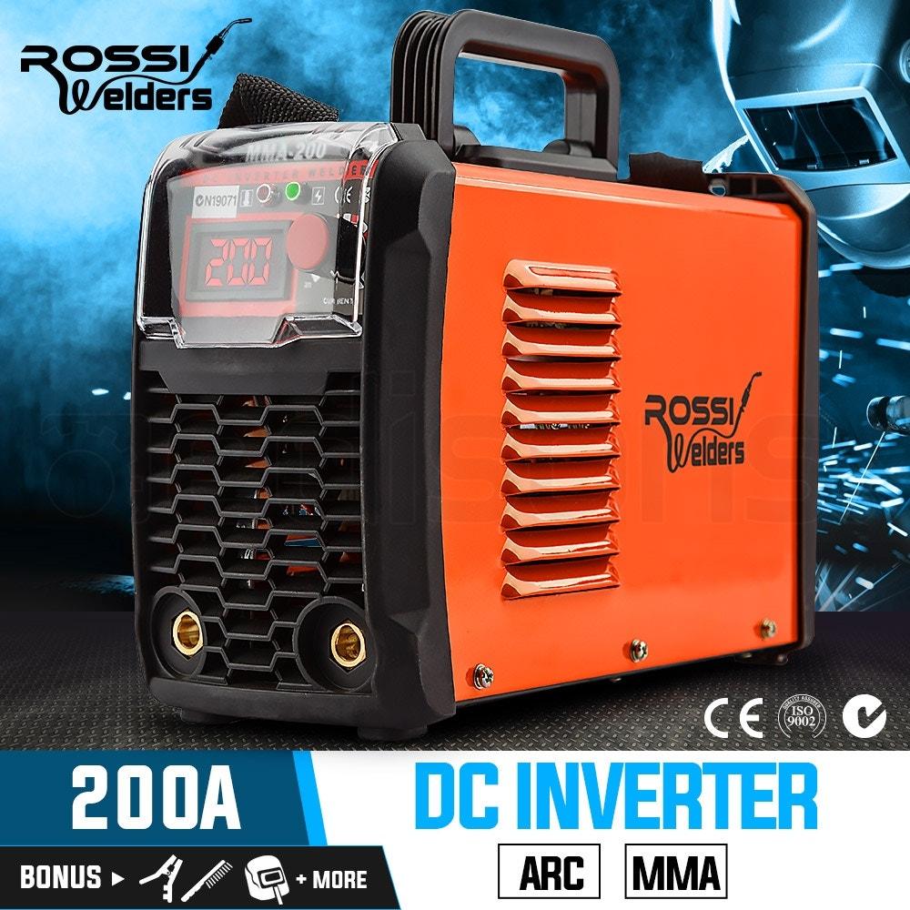 ROSSI MMA 200Amp Welder DC iGBT Inverter ARC Welding Machine Stick Portable